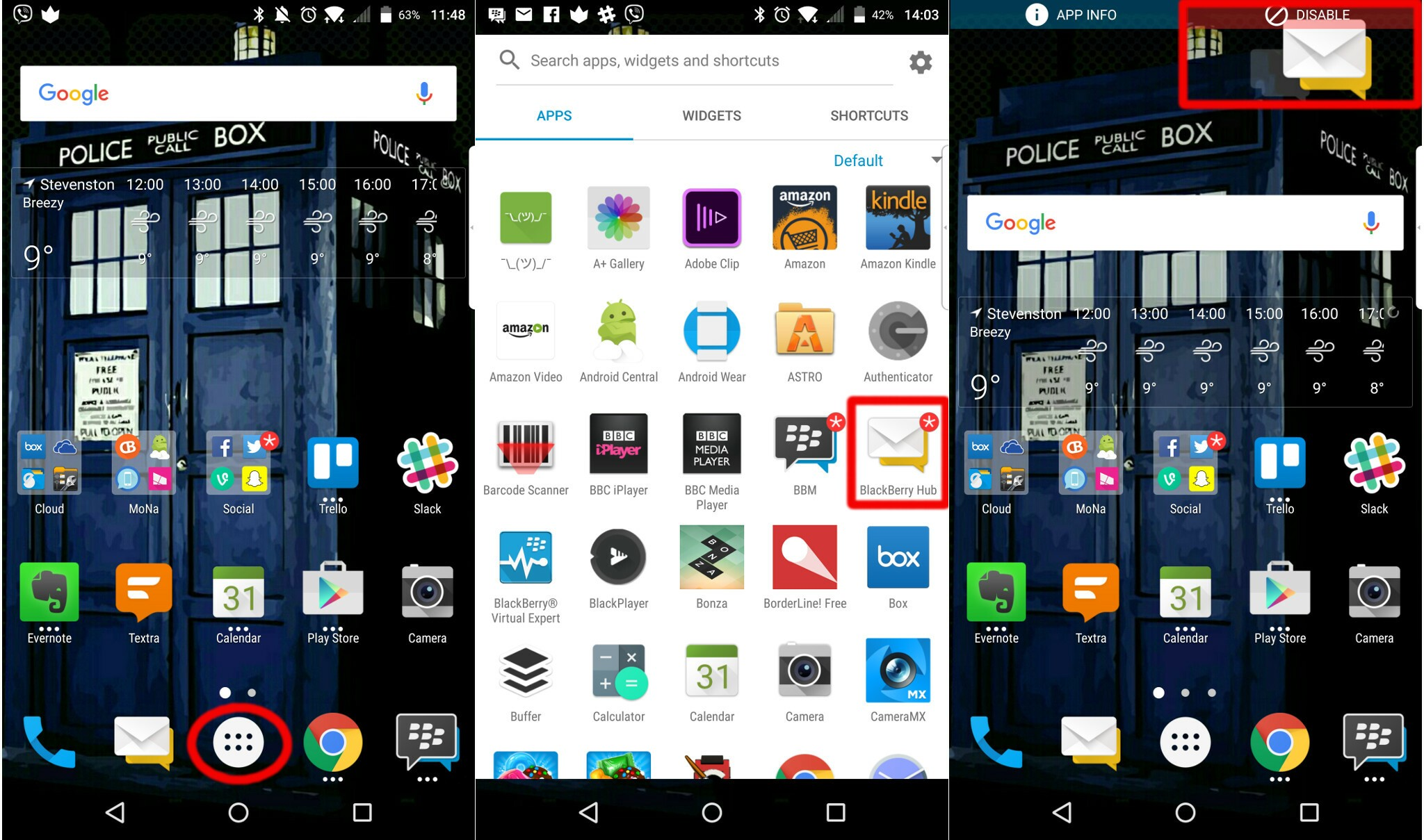 How to disable pre-installed apps and delete downloaded apps on the