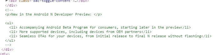 Android N OEM Code