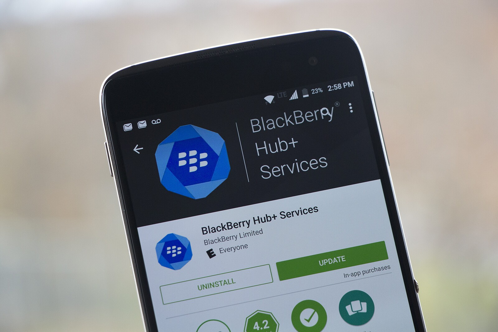 BlackBerry pushes latest build of Hub+ Services out to Google Play