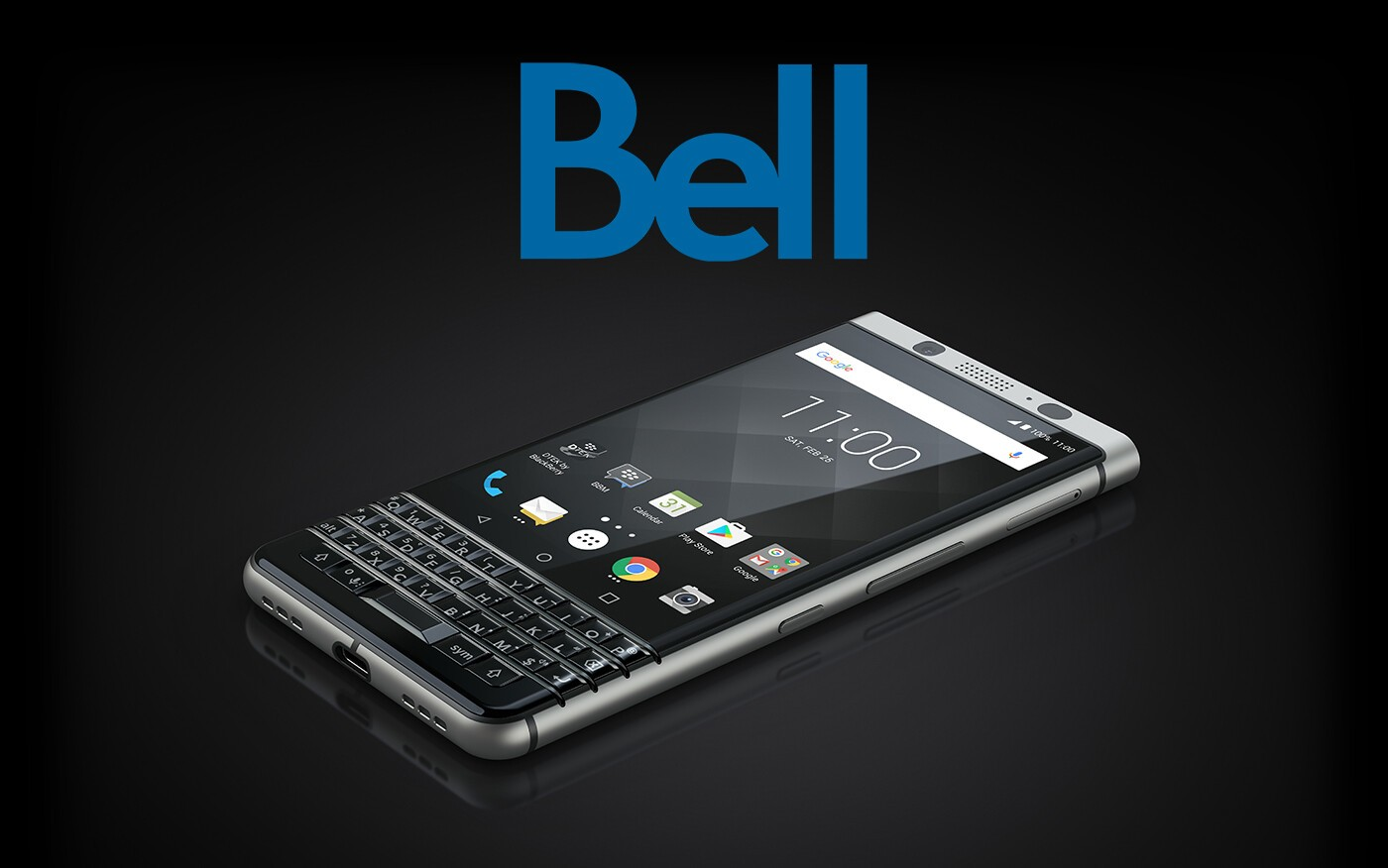 The BlackBerry KEYone will be available from Bell starting in late April