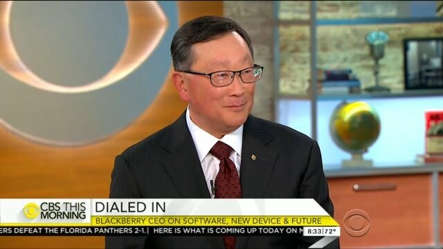 John Chen discusses security and the future of BlackBerry on CBS This Morning