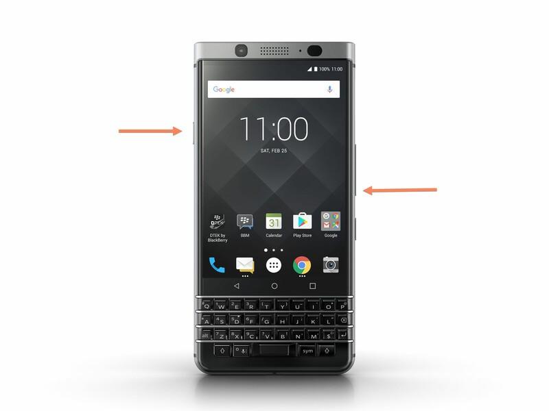 Setting a BlackBerry KEYone into recovery mode
