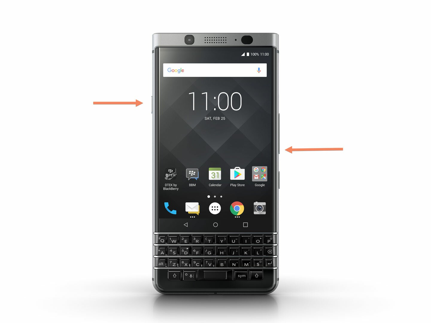 How to take a screenshot on the BlackBerry KEYone
