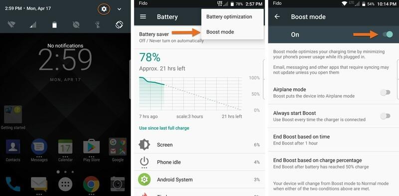 BlackBerry KEYone Boost Mode