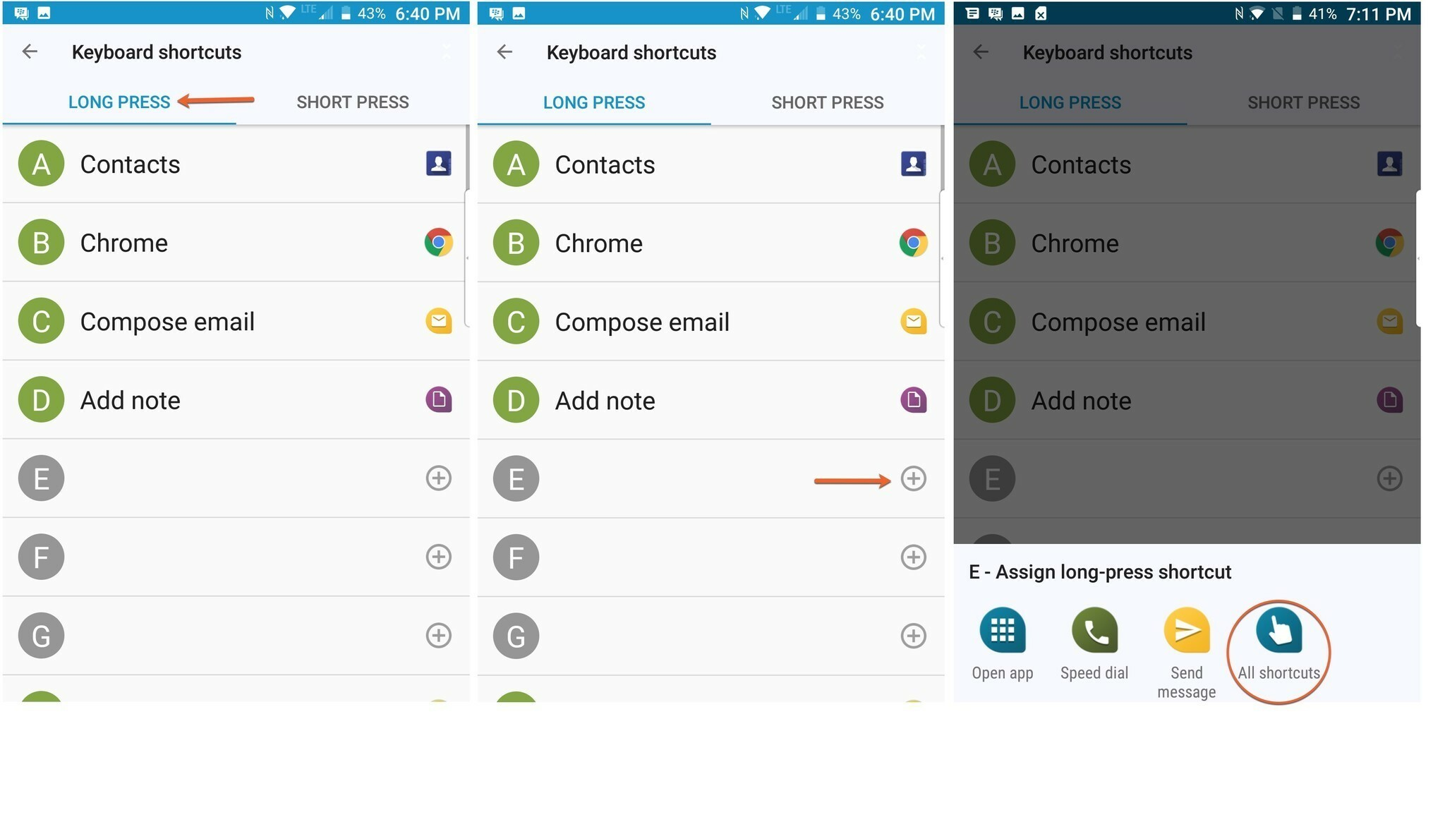 How to set up keyboard shortcuts on the BlackBerry KEYone