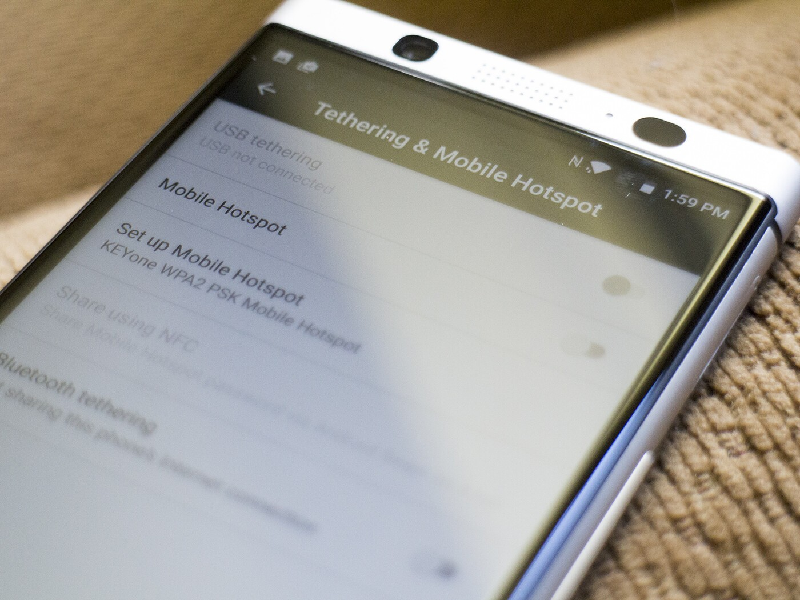 How to setup wireless hotspot on the BlackBerry KEYone