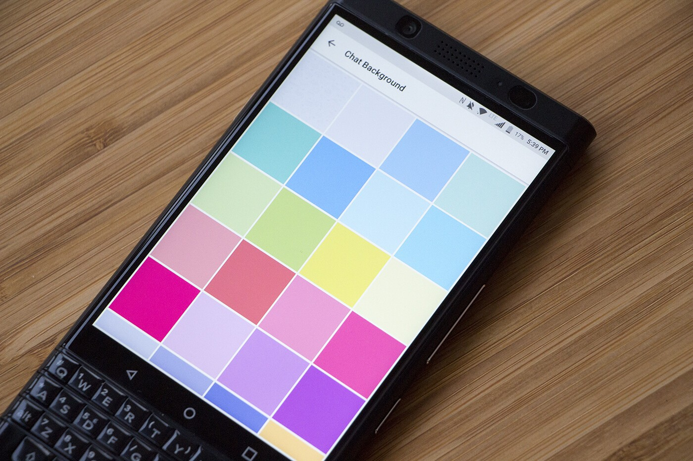 how to change background color in bbm