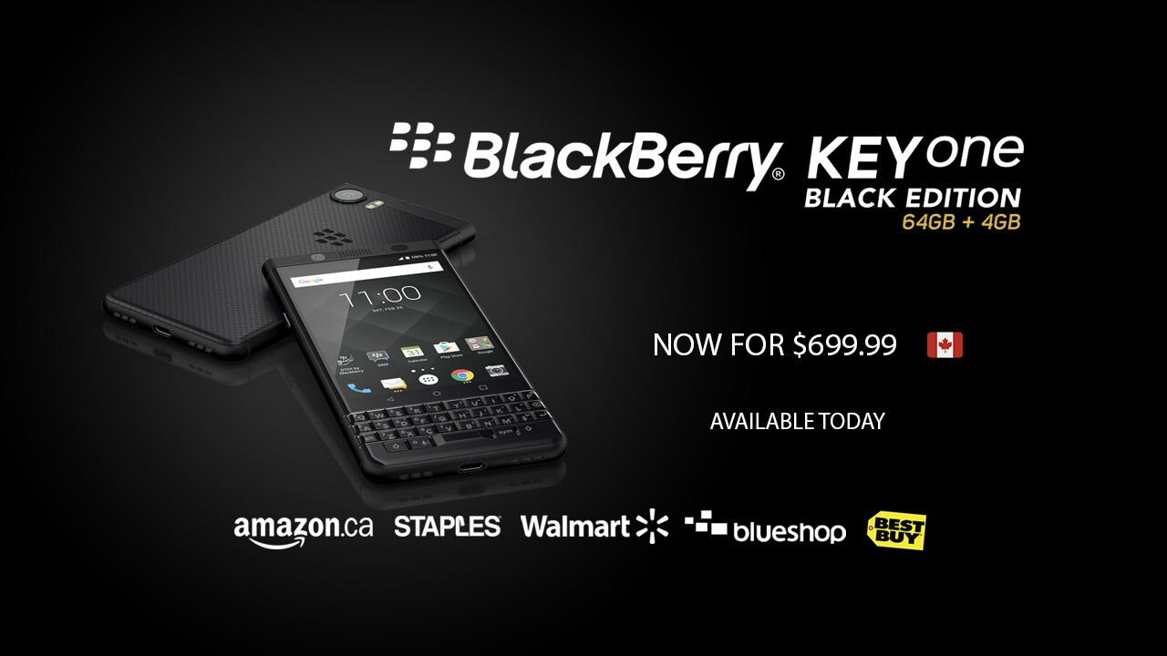 Canadians can save 00 on the BlackBerry KEYone Black Edition right now!