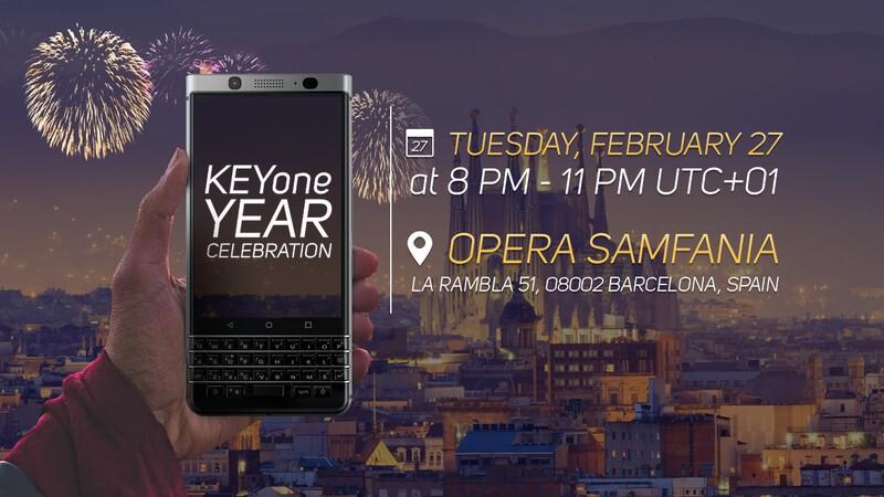 BlackBerry KEYone one year celebration