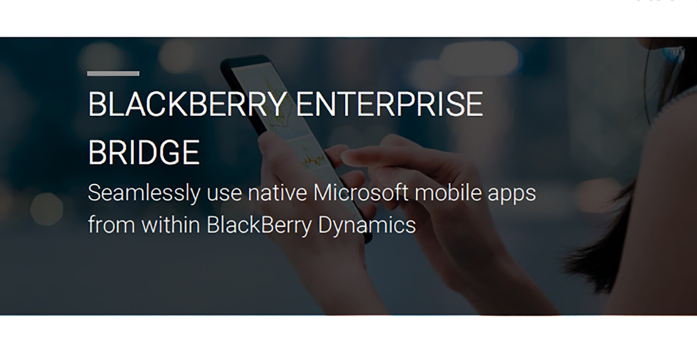 BlackBerry and Microsoft team up to introduce BlackBerry Enterprise Bridge