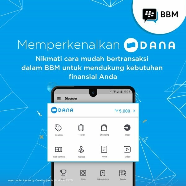 Bbm launches dana in bbm mobile wallet for indonesia crackberry bbm offers indonesian users mobile payments through dana mobile wallet reheart Image collections