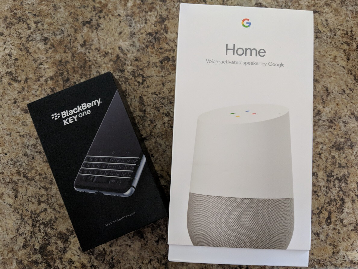 Enter to win a BlackBerry KEYone and a Google Home from CrackBerry!
