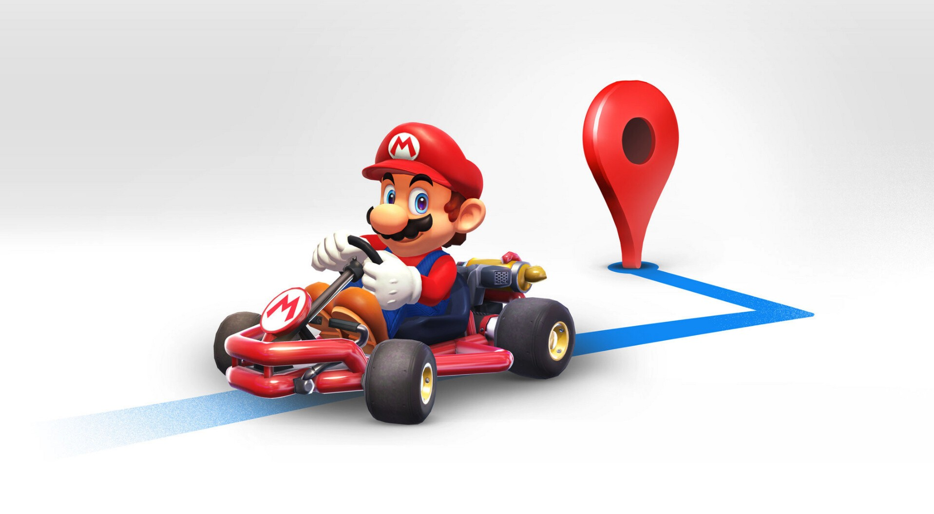 Mario can guide you around town in Google Maps as part of the Mario Day celebrations