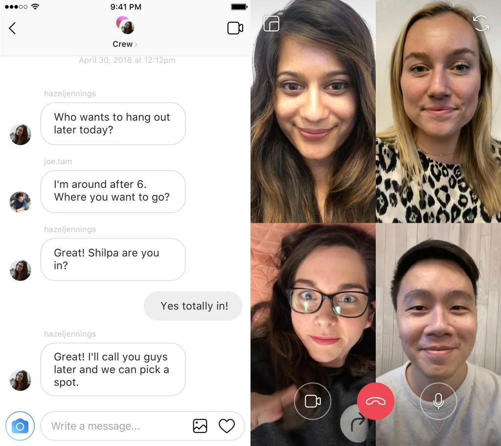 IG video chat