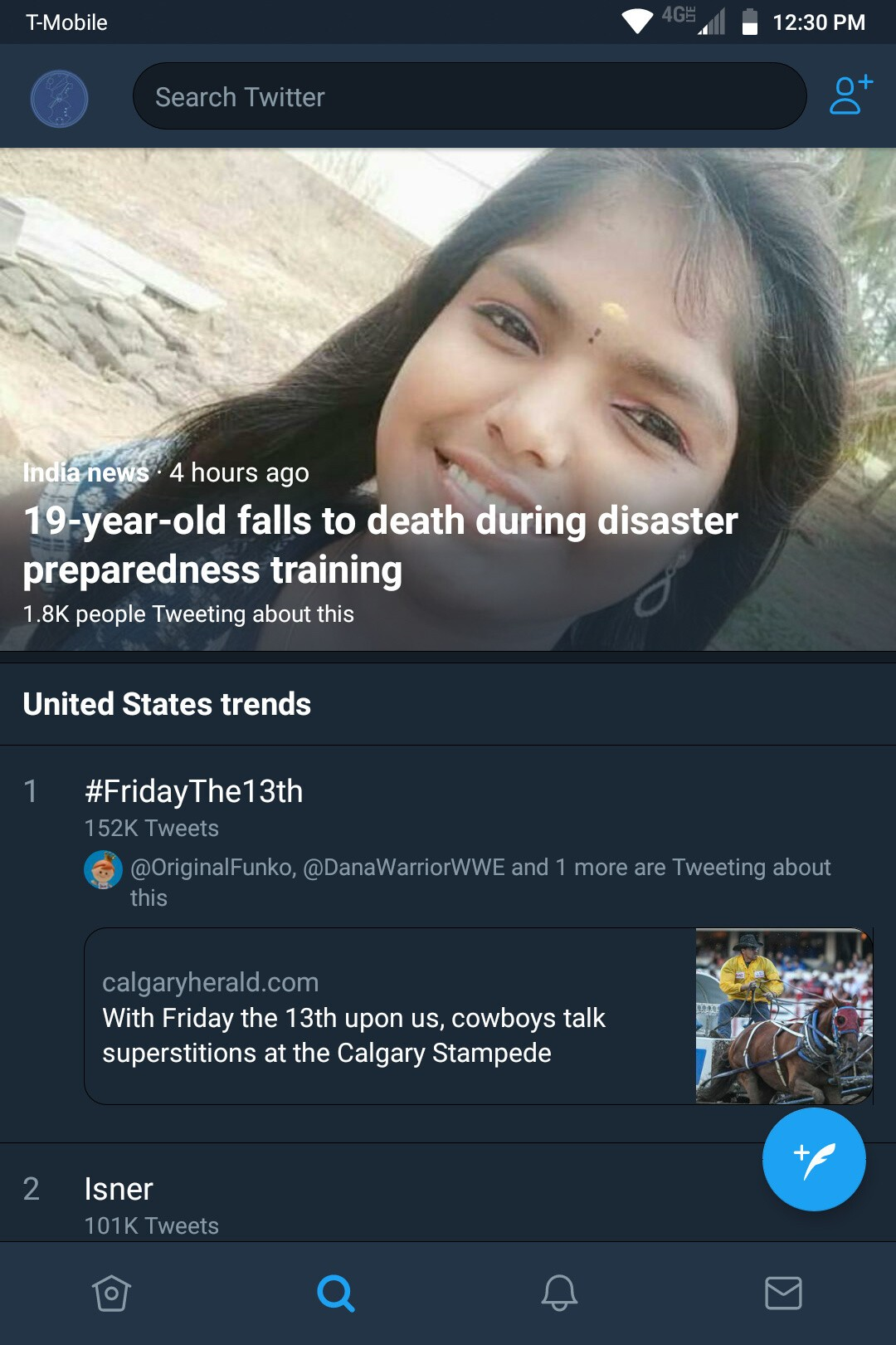 Twitter launches new bottom navigation bar on Twitter for Android screenshot 20180713 123044