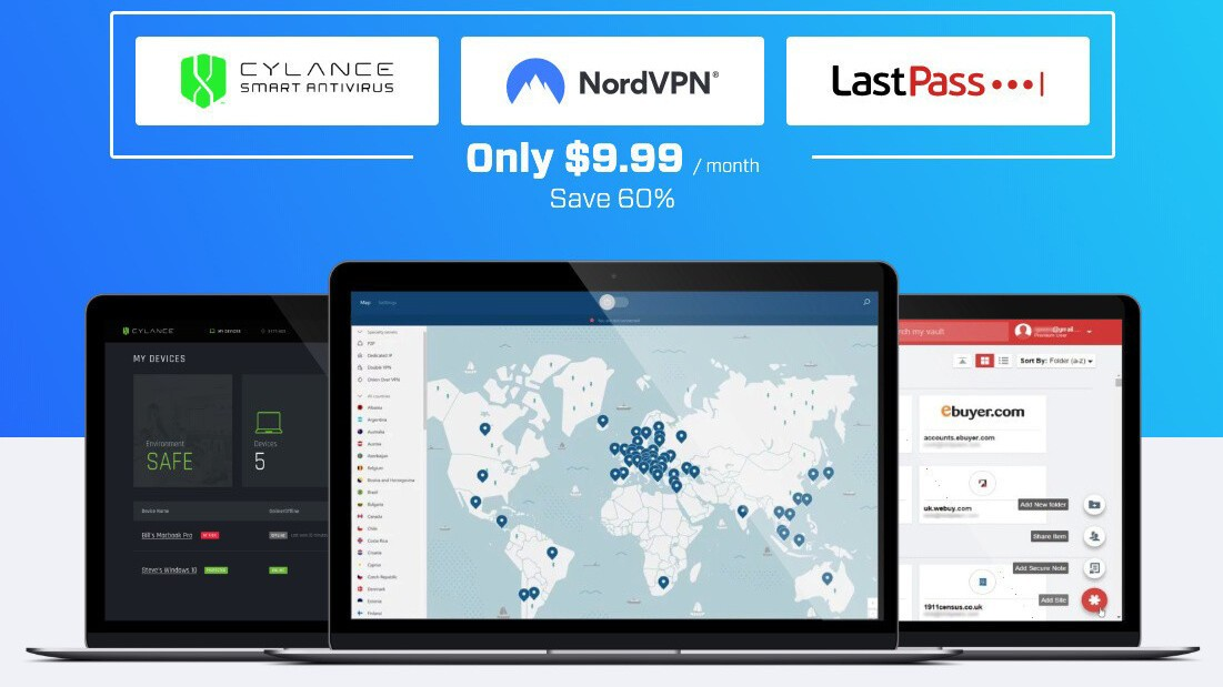 BlackBerry Cylance, NordVPN, and LastPass team up to offer security