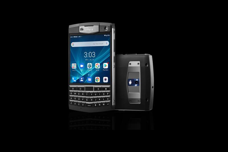 The Unihertz Titan is a BlackBerry Passport knockoff running Android