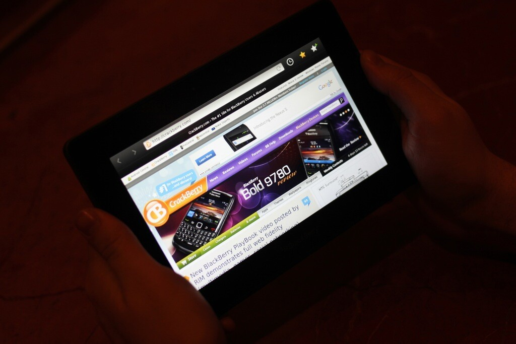 The display on BlackBerry PlayBook is sharp and bright
