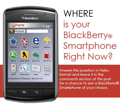 Haiku Contest! Win a BlackBerry Courtesy of Where and CB ...