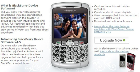 Upgrade Your OS Via The Web BlackBerry Upgrades