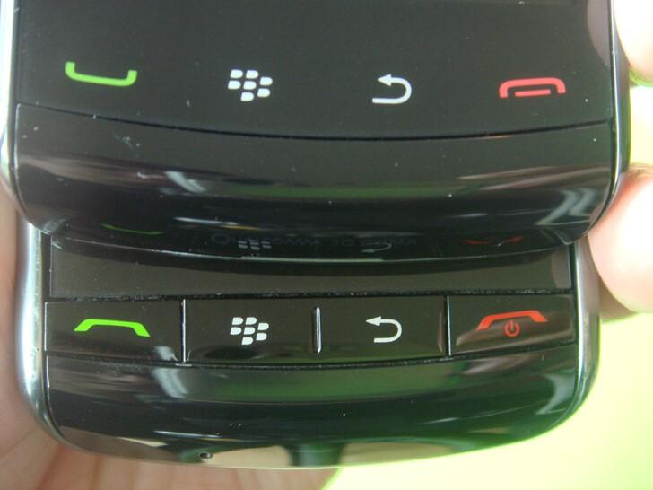 Top: BlackBerry Storm2, Bottom: BlackBerry Storm.