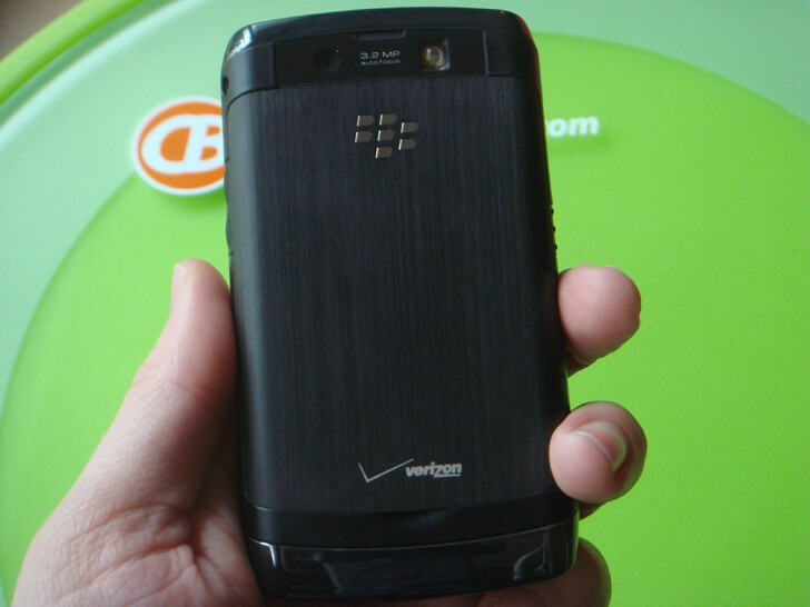 The BlackBerry Storm2's rear