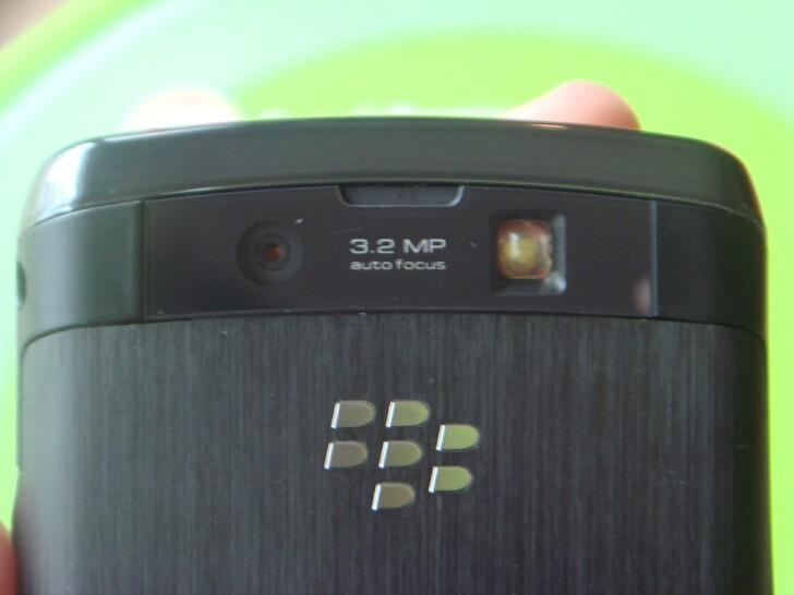 The BlackBerry Storm2's camera