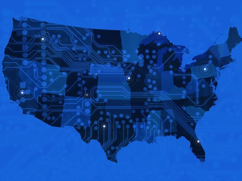 Digitized map