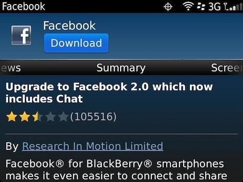 Facebook for BlackBerry updated to version 2 0 0 50 | CrackBerry com