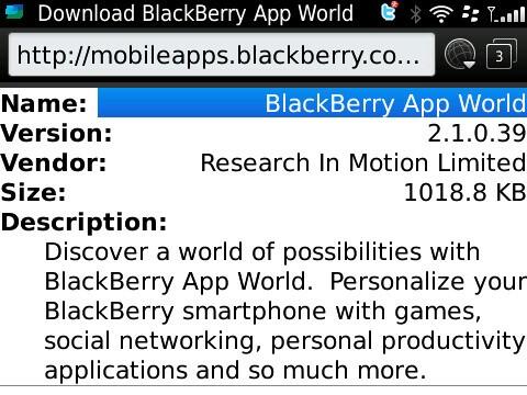 Ota blackberry app world download.