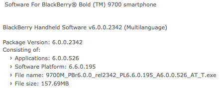 Official OS 6.0.0.526 now available for the BlackBerry Bold 9700 from AT&T!