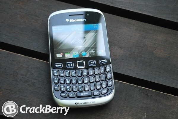 The BlackBerry Curve 9310 home screen provides quick access to all the essentials