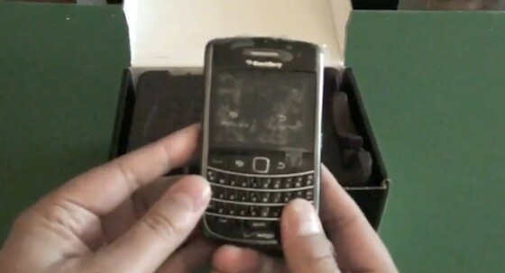 Verizon BlackBerry Bold 9650 unboxing