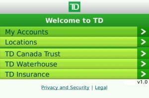 TD banking app gets deposited into BlackBerry App World
