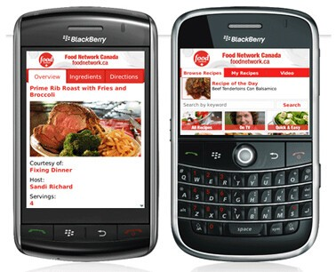 Review Food Network Canada Mobile App For Blackberry Crackberrycom