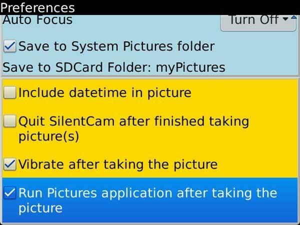 SilentCam Menu 2
