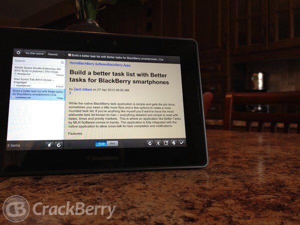 ReadOnTouch Pro for th BlackBerry PlayBook