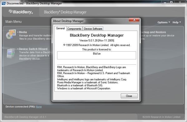 blackberry desktop manager version 5 0 1 download