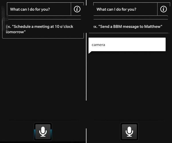 BlackBerry 10 Voice commands