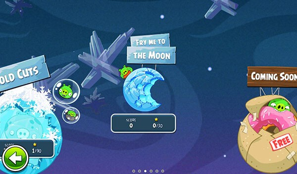 New Update To Angry Birds Space For The Blackberry