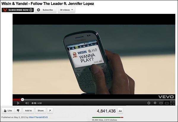 Jennifer Lopez + BlackBerry are a winning combo in Wisin ...