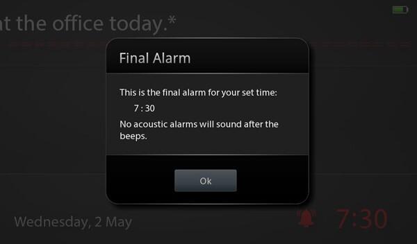 Final alert