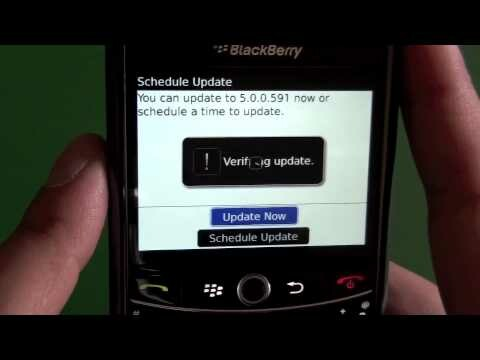 There was an error updating your software blackberry bold 9700