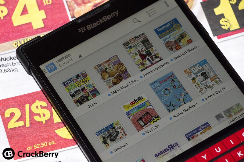 Reebee shopping list and flyer app returns to BlackBerry World