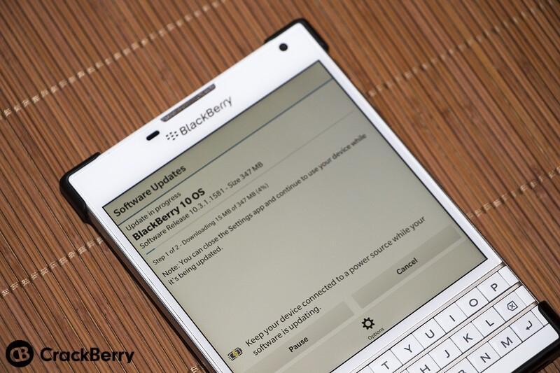 TELUS BlackBerry Passport 10.3.1 update now available