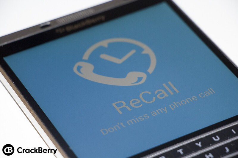 ReCall is a great missed call reminder app for BlackBerry 10