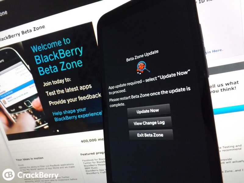 BlackBerry Beta Zone update