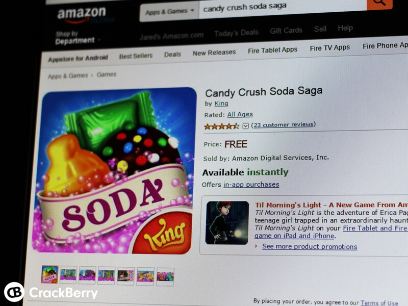 Candy Crush Soda Saga now available in the Amazon Appstore