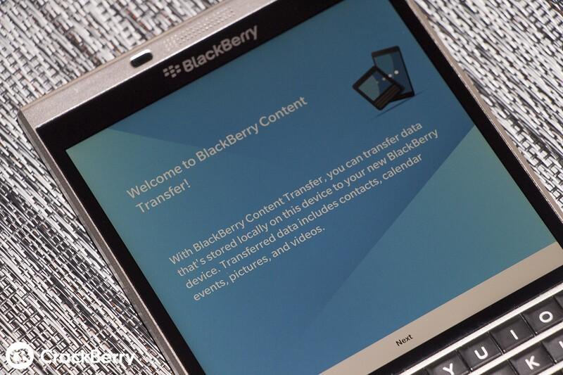 BlackBerry Content Transfer app will make moving to a BlackBerry Priv easier