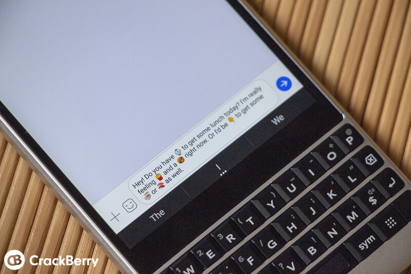How to enable predictive emoji on the BlackBerry KEY2
